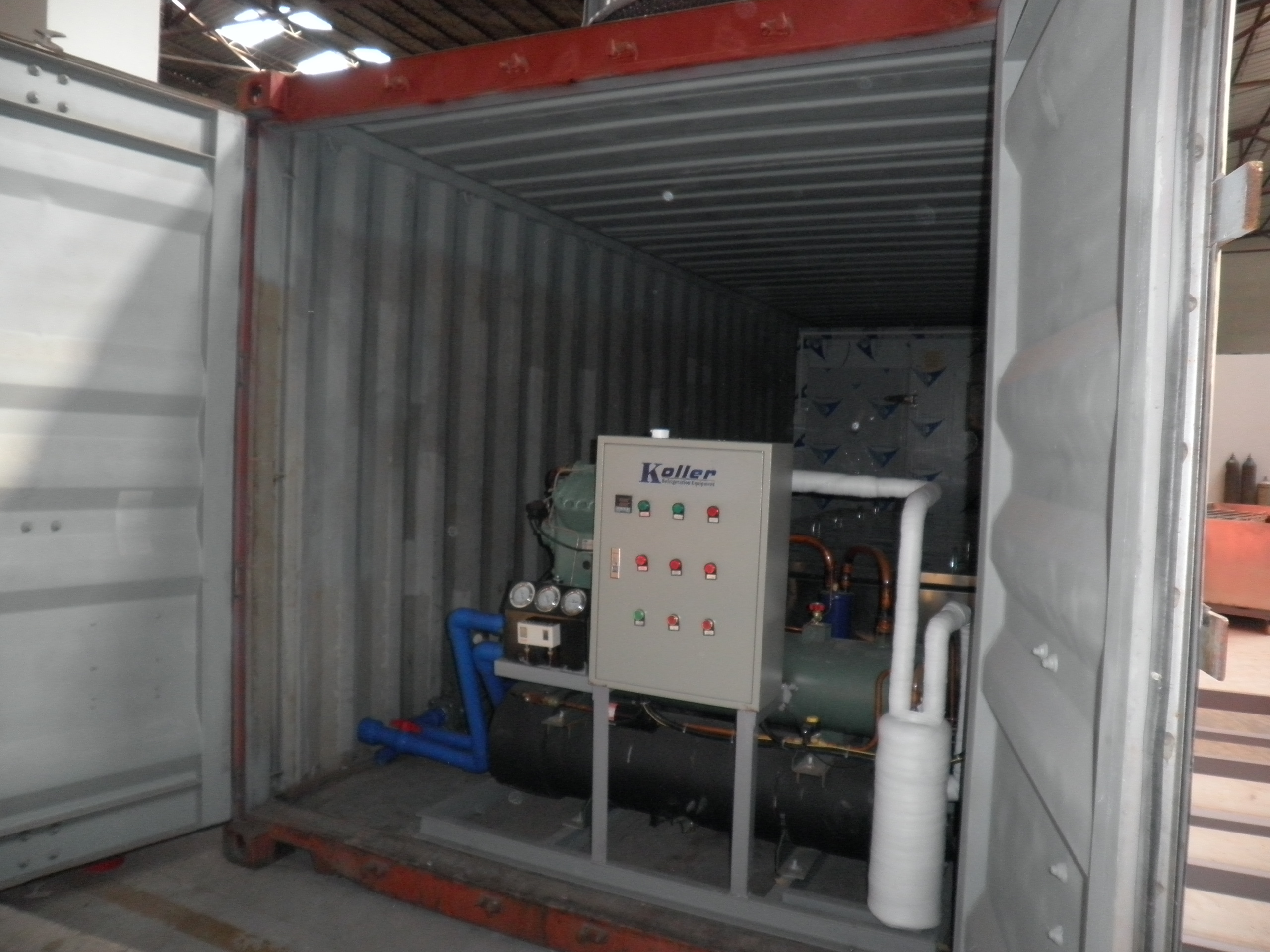 Containerized Block Ice Machine KCB30 & Containerized Cold Room