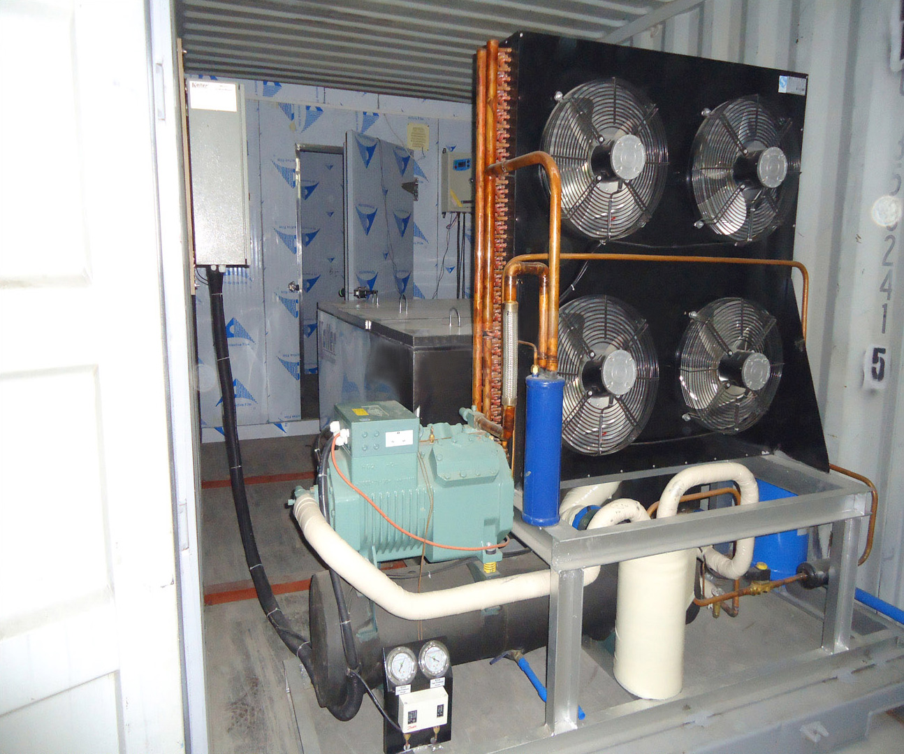 Containerized Block Ice Machine KCB20 & Containerized Cold Room