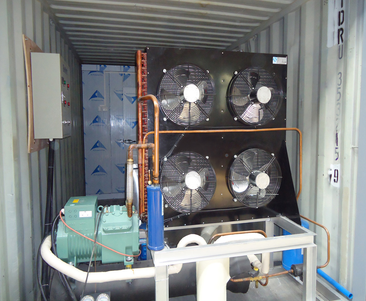 Containerized Block Ice Machine KCB40 & Containerized Cold Room